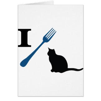 Yo como gatos del gatito tarjeta de felicitación