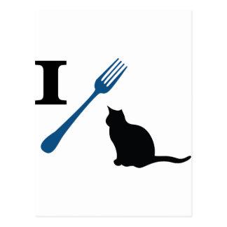 Yo como gatos del gatito tarjetas postales