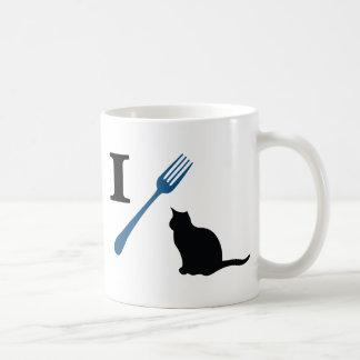 Yo como gatos del gatito taza de café