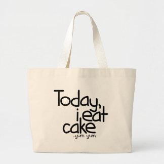 Yo como hoy la torta (el cumpleaños) bolsa tela grande