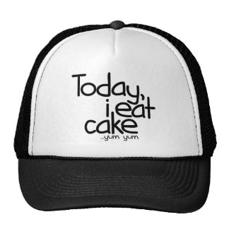 Yo como hoy la torta el cumpleaños gorras de camionero