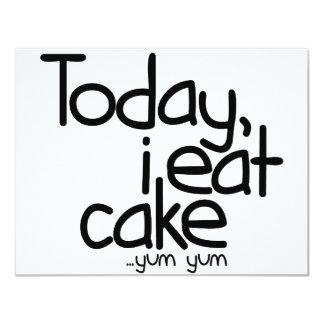 Yo como hoy la torta (el cumpleaños) invitaciones personales