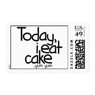 Yo como hoy la torta (el cumpleaños) timbres postales