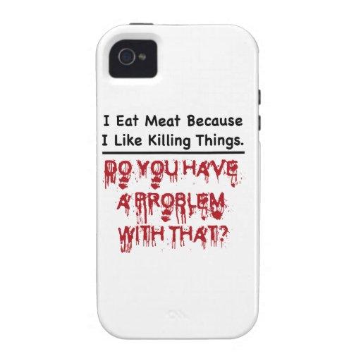 Yo como la carne vibe iPhone 4 carcasa