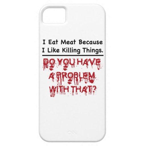 Yo como la carne iPhone 5 funda
