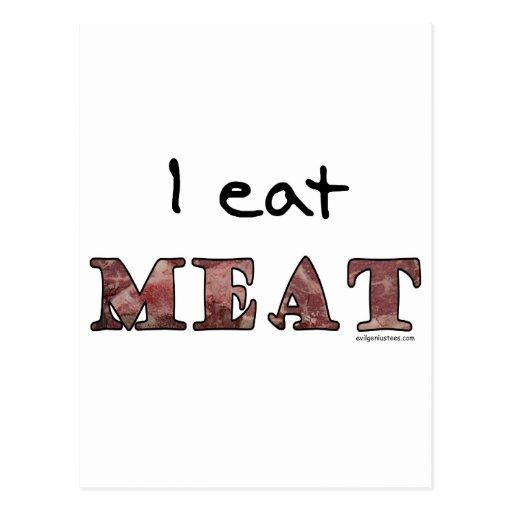Yo como la carne postal