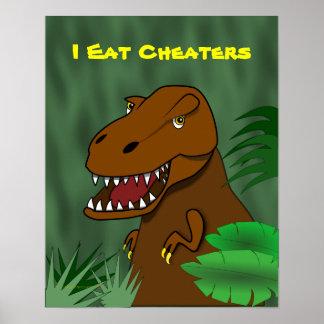 Yo como la sala de clase de la escuela del dinosau póster