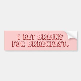 Yo como los cerebros para el desayuno pegatina para auto