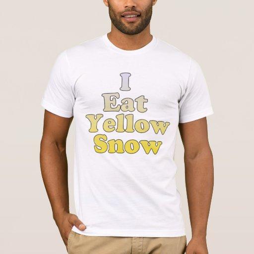 Yo como nieve amarilla playera