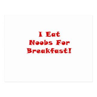 Yo como Noobs para el desayuno Postales