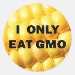 """""""Yo como solamente pegatina de GMO"""""""