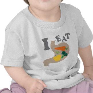 Yo como verduras camisetas