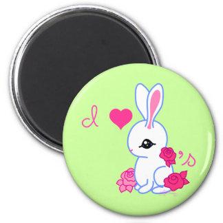 Yo conejo del mascota de los conejitos 3 imán de frigorifico