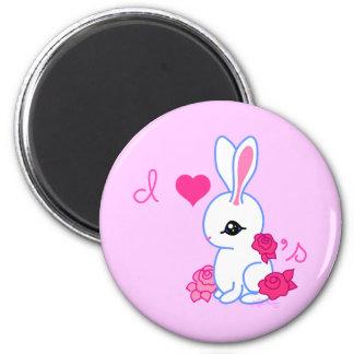 Yo conejo del mascota de los conejitos 3 imán para frigorifico