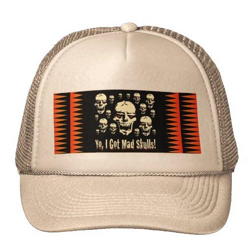Yo, conseguí los cráneos enojados gorras de camionero