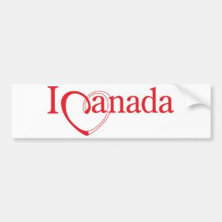 """""""Yo corazón Canadá """" Pegatina Para Auto"""
