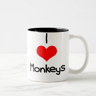 yo-corazón-monos taza de dos tonos
