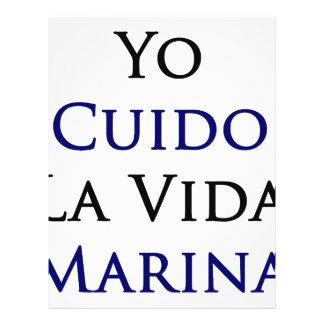 Yo Cuido La Vida Marina Personalized Flyer