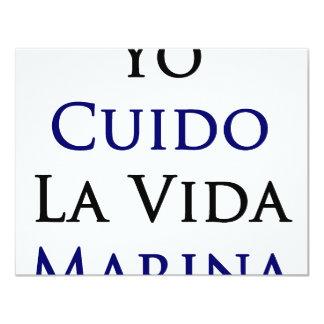 Yo Cuido La Vida Marina Personalized Invite