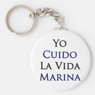 Yo Cuido La Vida Marina Keychain