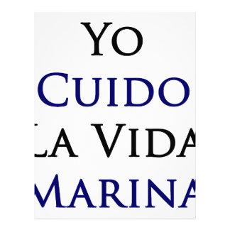 Yo Cuido La Vida Marina Letterhead Design