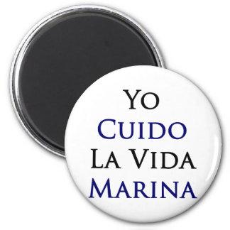 Yo Cuido La Vida Marina Fridge Magnet