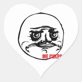 Yo culpa - oiga a los pegatinas pegatinas de corazon personalizadas