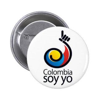 Yo de la soja de Colombia Pin Redondo De 2 Pulgadas