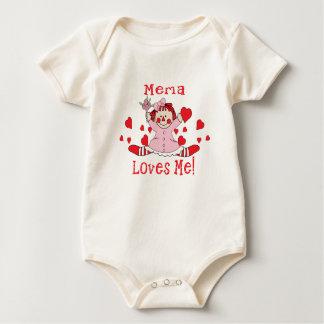 Yo del amor de Mema muñeca de trapo Body Para Bebé