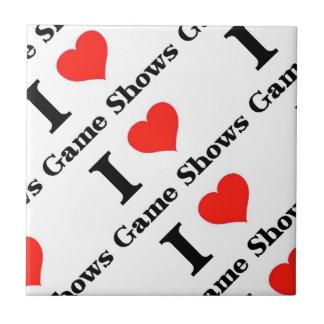 Yo demostraciones de juego de amor azulejo cuadrado pequeño