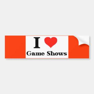 Yo demostraciones de juego de amor pegatina de parachoque
