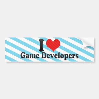 Yo desarrolladores del juego de amor etiqueta de parachoque