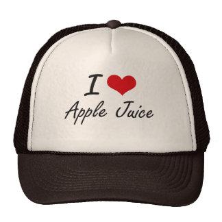 Yo diseño artístico del zumo de manzana de amor gorro de camionero