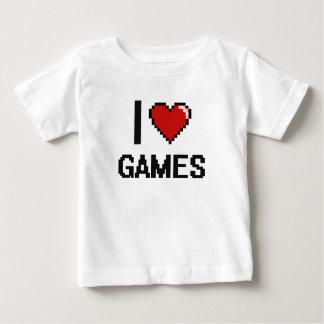 Yo diseño retro de Digitaces de los juegos de amor Playera