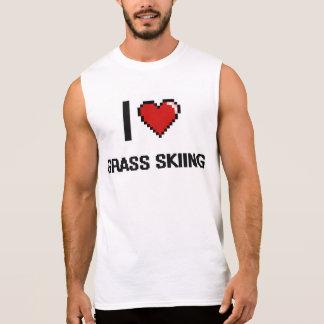 Yo diseño retro de esquí de Digitaces de la hierba Camiseta Sin Mangas