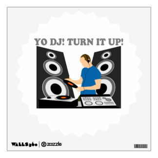 Yo DJ, le da vuelta para arriba Vinilo Adhesivo