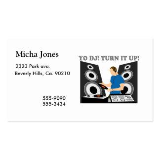 Yo DJ, Turn It Up Business Cards