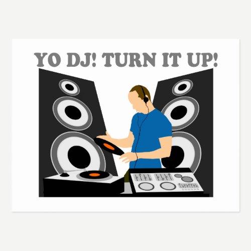 Yo DJ, Turn It Up Postcard