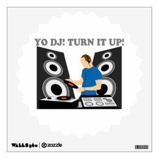 Yo DJ, Turn It Up Wall Sticker