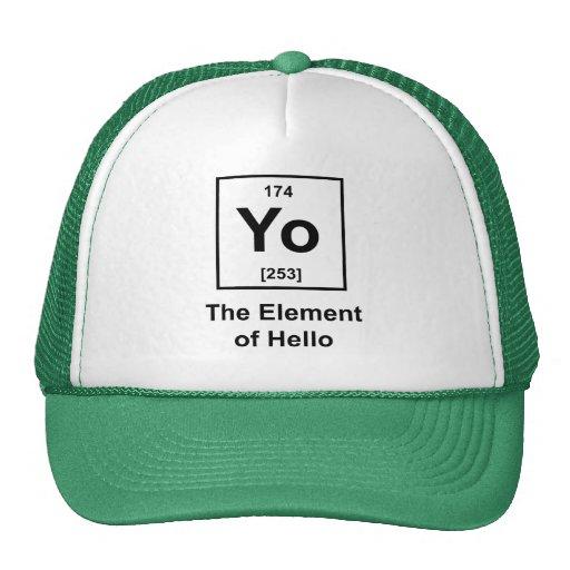 ¡Yo! El elemento de hola Gorra