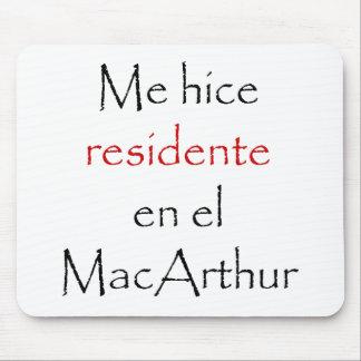 Yo EL MacArthur del En de Hice Residente Alfombrillas De Raton