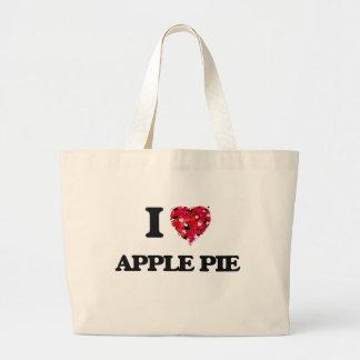 Yo empanada de Apple de amor Bolsa Tela Grande