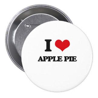 Yo empanada de Apple de amor Chapa Redonda 7 Cm
