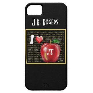 Yo empanada de Apple de amor y rojo y oro de los iPhone 5 Case-Mate Protectores