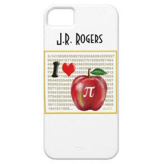 Yo empanada de Apple de amor y rojo y oro de los iPhone 5 Coberturas