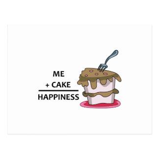 Yo+Felicidad de la torta Postal