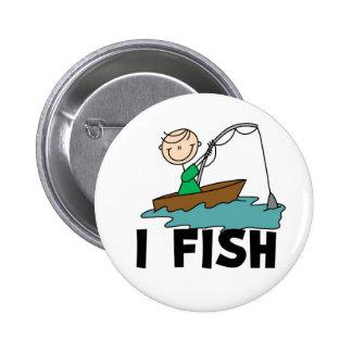 Yo figura botón del palillo de pescados