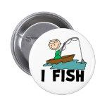 Yo figura botón del palillo de pescados pins