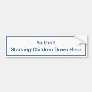 Yo God bumper sticker