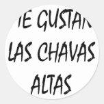 Yo Gustan Las Chavas Altas Etiquetas Redondas